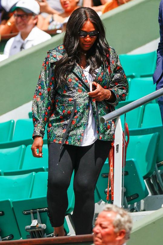 Serena už se zakulacuje.