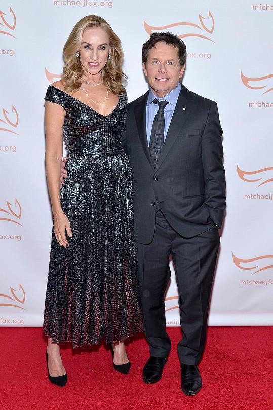 Michael J. Fox s manželkou Tracy