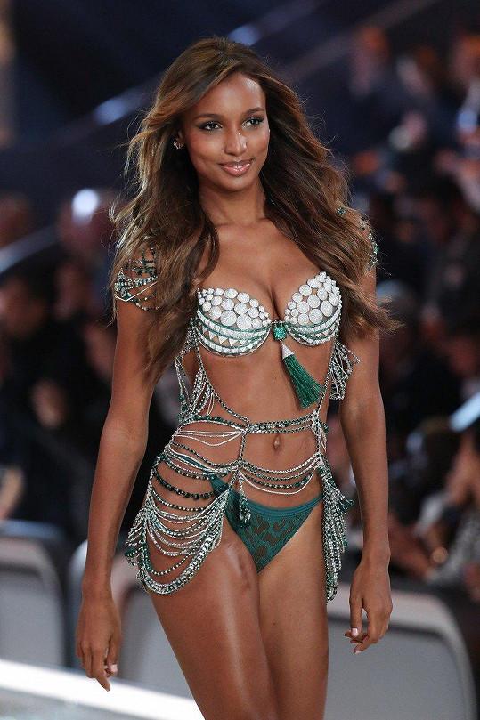 Jasmine Tookes, 2016. Tookes se stala teprve třetí černoškou v historii, která Fantasy Bra oblékla. Diamanty byla doslova ověšena a kousek měl hodnotu něco přes 68 miliónů korun.