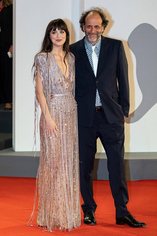 Dakota Johnson a režisér Luca Guadagnino