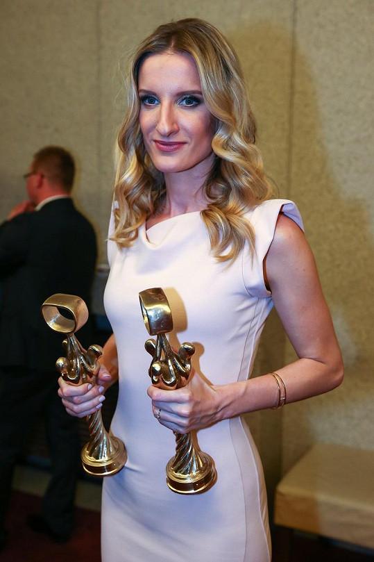 Adela Banášová si odnesla hned dvě ceny OTO.