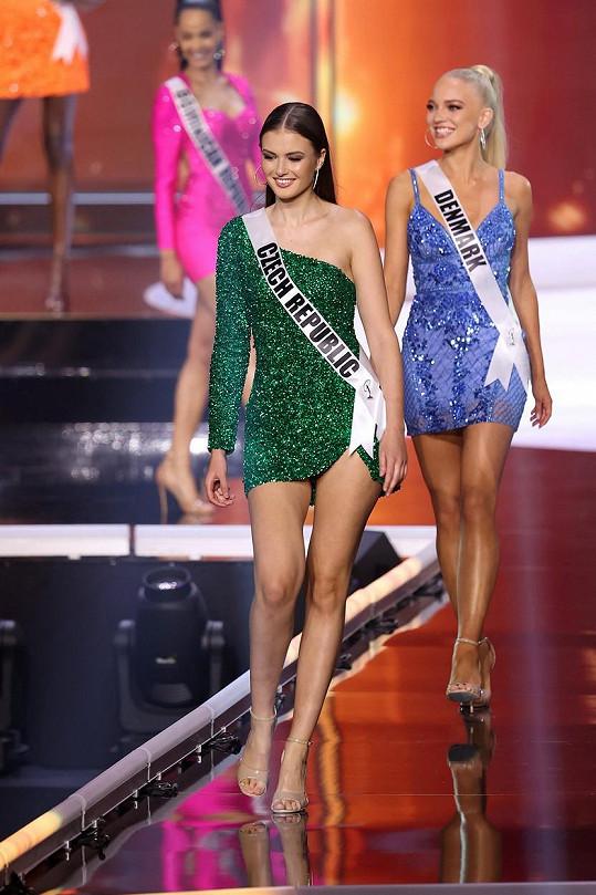 Klára Vavrušková na Miss Universe.