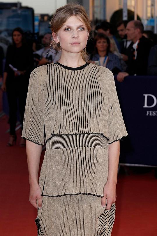 Clémence Poésy na festivalu v Deauville