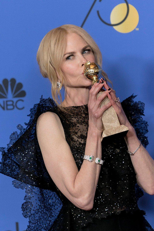 Nicole Kidman na Zlatých glóbech