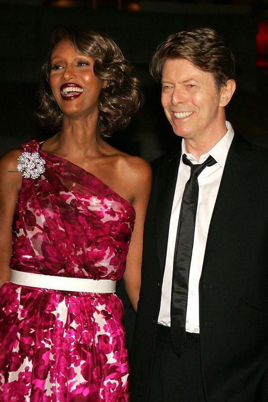 Iman s Davidem Bowiem v roce 2008