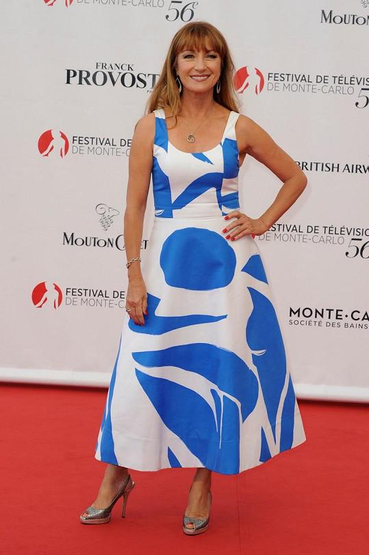Herečka byla ozdobou festivalu v Monte Carlu.