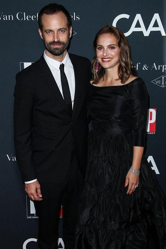 Natalie Portman (36) přišla na červený koberec podpořit manžela Benjamina Millepieda (40).