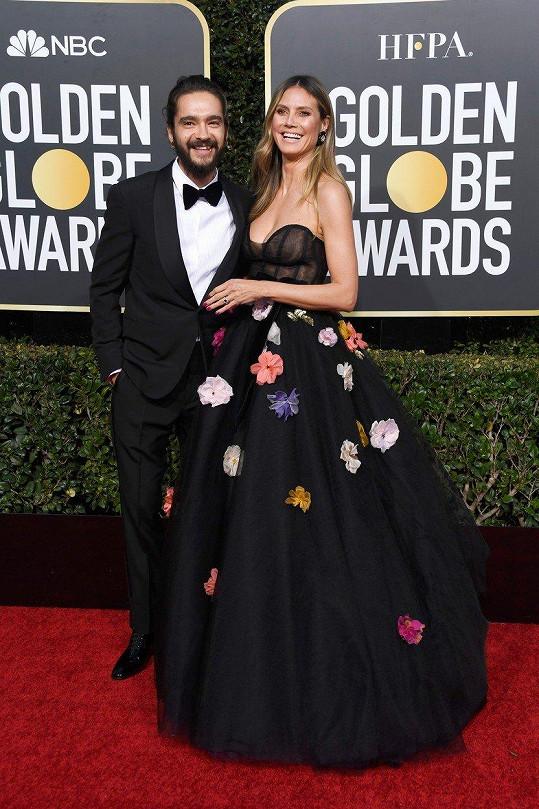 Heidi Klum a Tom Kaulitz si na Zlatých glóbech vysloužili spoustu pozornosti.