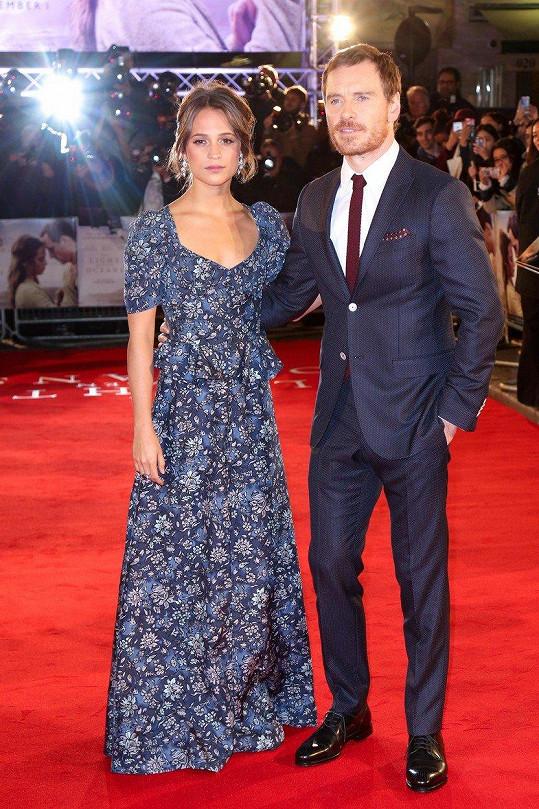 Michael Fassbender a jeho manželka Alicia Vikander