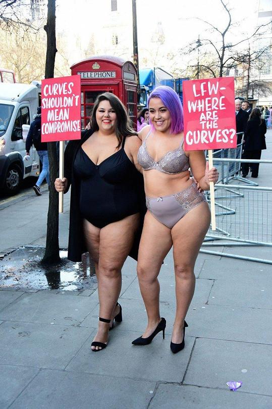 Tyhle dámy by se rády prosadily v plus size modelingu.