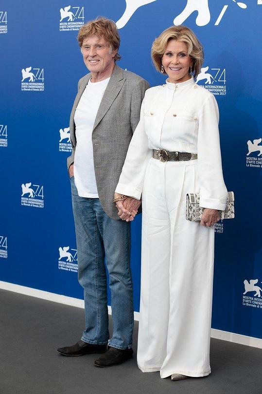 Robert Redford a Jane Fonda zazářili na festivalu v Benátkách.