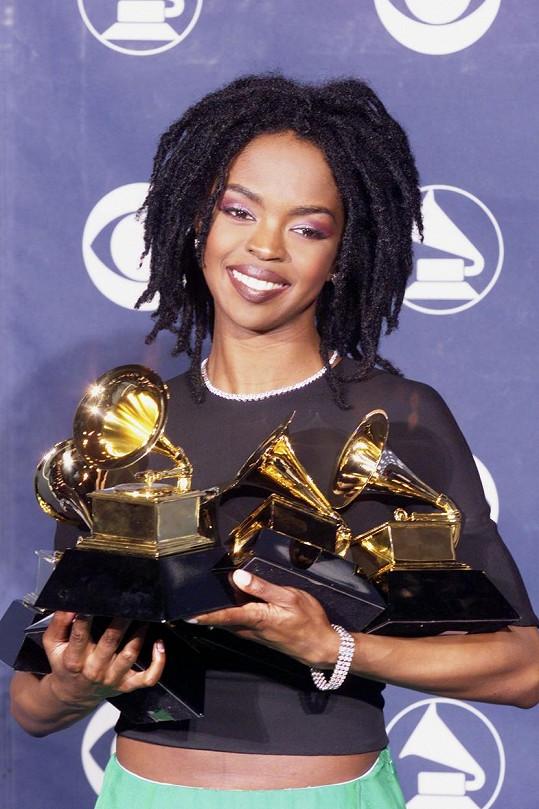 Lauryn Hill v době největší slávy. V roce 1999 získala pět cen Grammy.