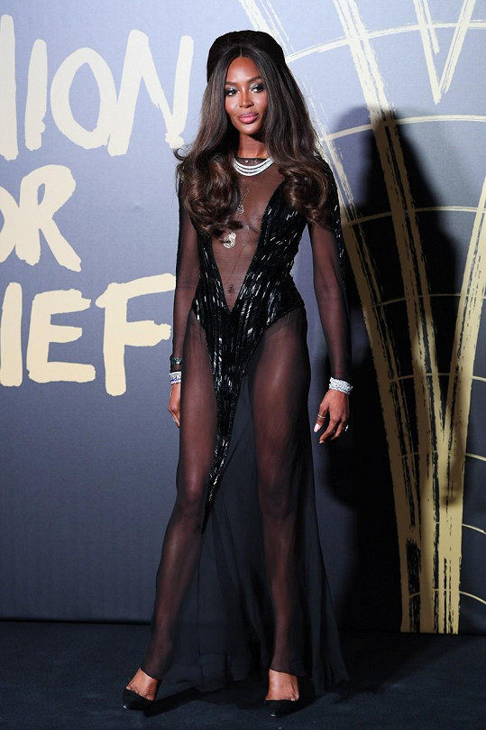 Naomi Campbell patří ke slavným topmodelkám.