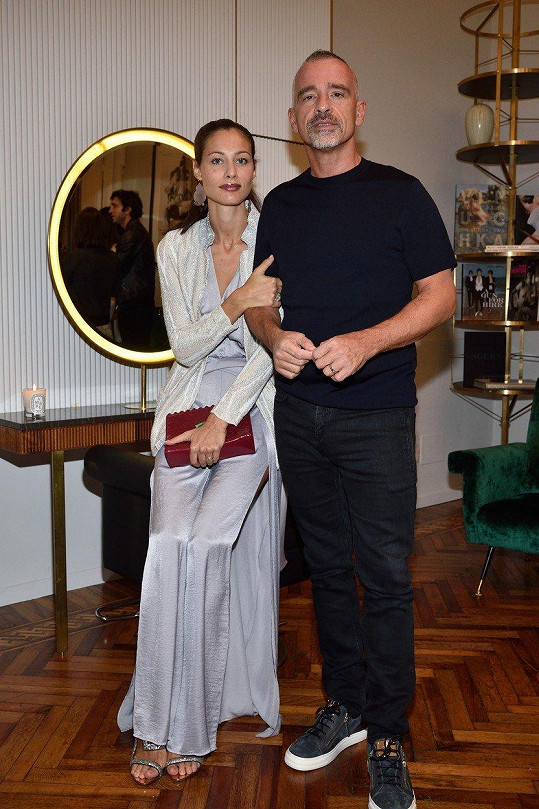 Eros s manželkou Maricou Pellegrinelli