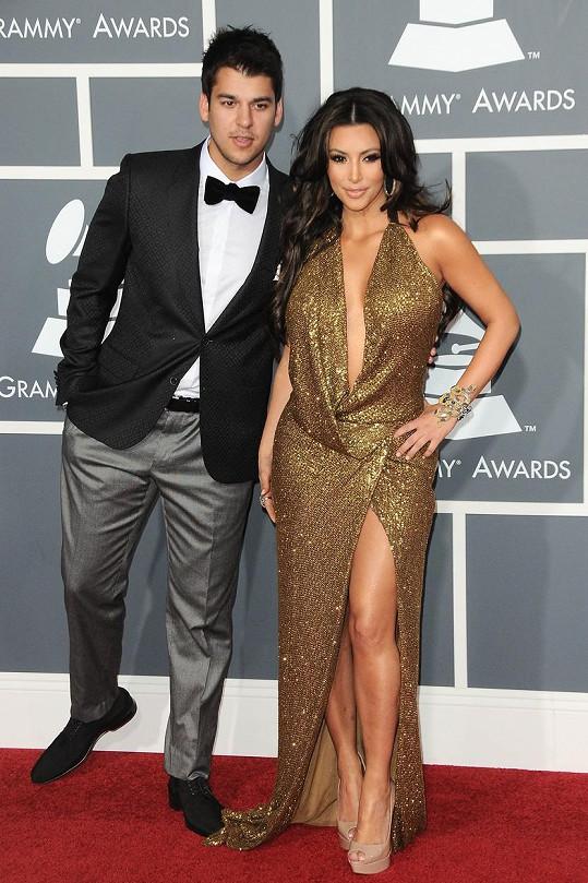 Rob Kardashian se sestrou Kim v roce 2011