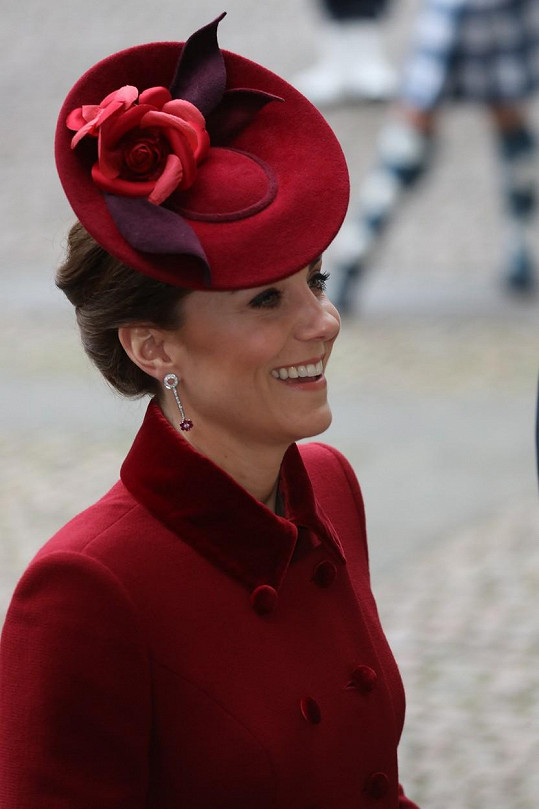 Vévodkyně Kate byla dobře naladěna.