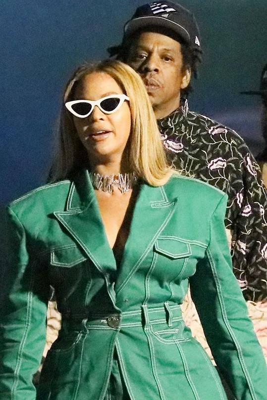 Doprovodil ji i manžel Jay-Z.