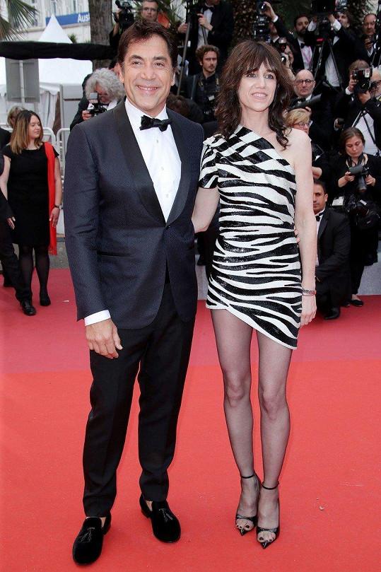 Javier Bardem přišel s Charlotte Gainsbourg.