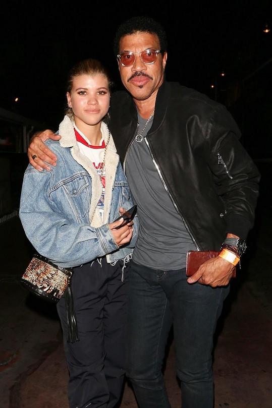 Sofia s otcem Lionelem Richiem