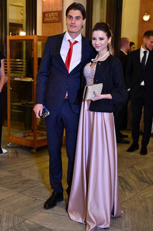 Patrik Schick s přítelkyní Hankou