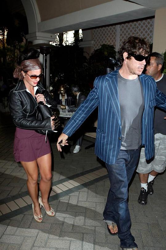 John Sundahl s Britney Spears tvořil pár v roce 2007.