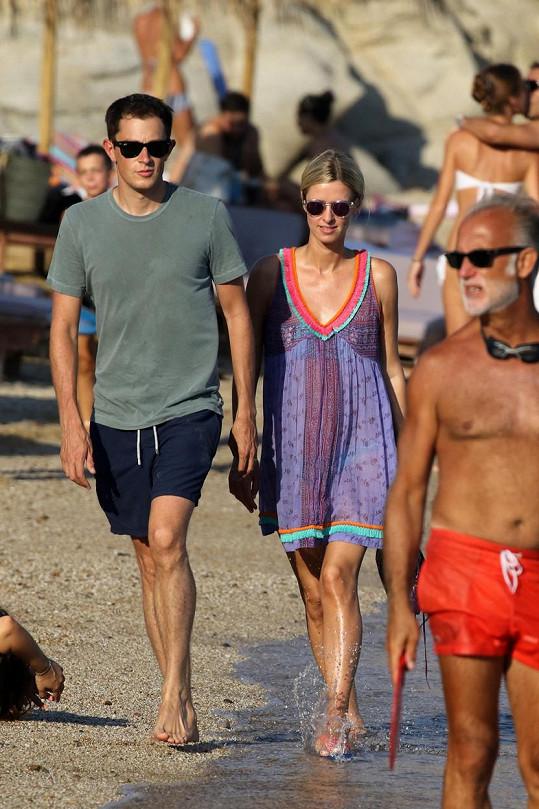 Nicky s manželem Jamesem Rothschildem
