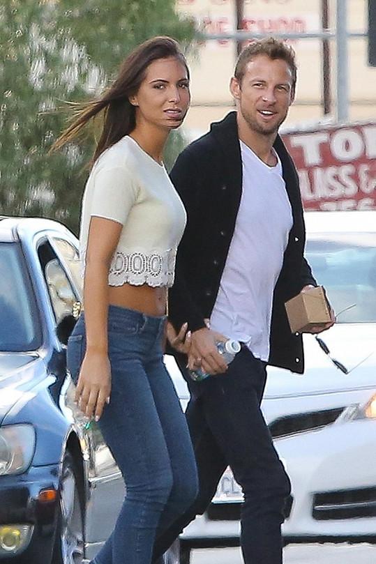 Jenson Button s novou přítelkyní Brittny Ward