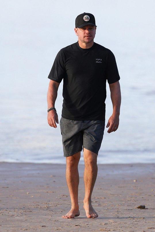 Na dovolené je s nimi i další herecká hvězda - Matt Damon.