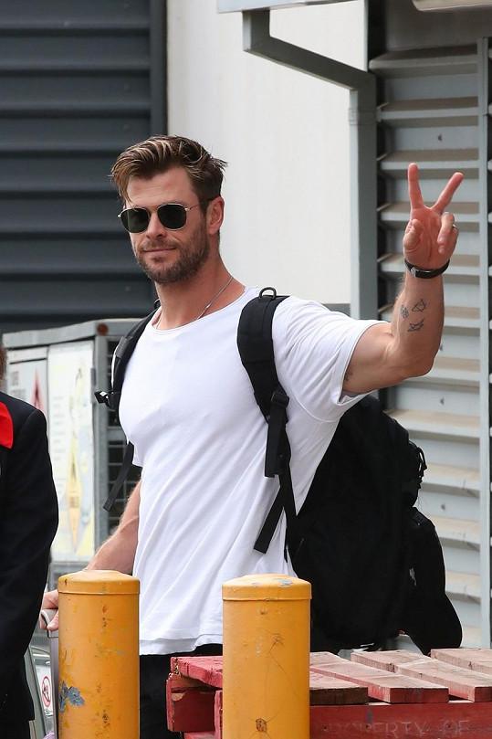 Hemsworth v něm našel kolegu i přítele.