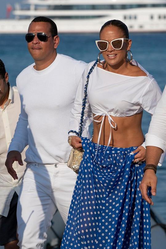 Jennifer Lopez se snoubencem Alexem