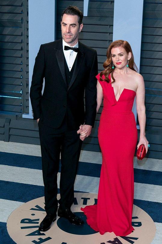 Sacha Baron Cohen s manželkou Islou Fisher