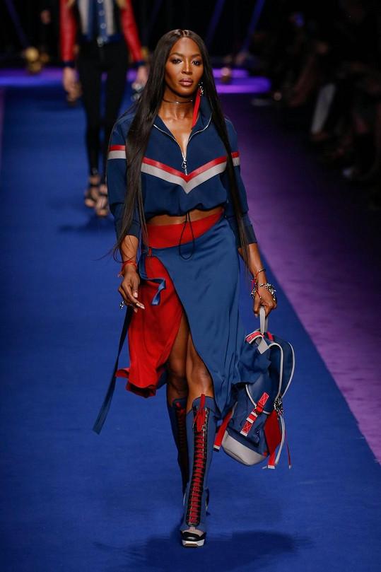 Naomi na nedávné přehlídce Versace