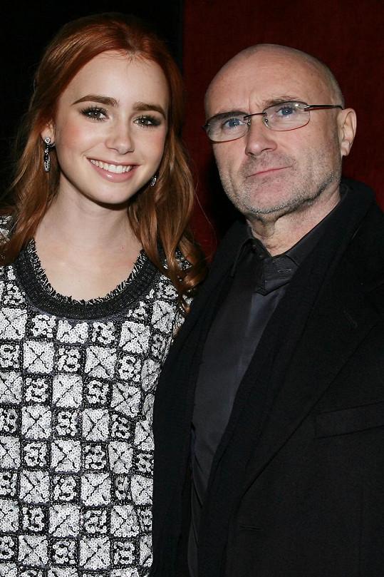 Lily se svým slavným tatínkem Philem Collinsem