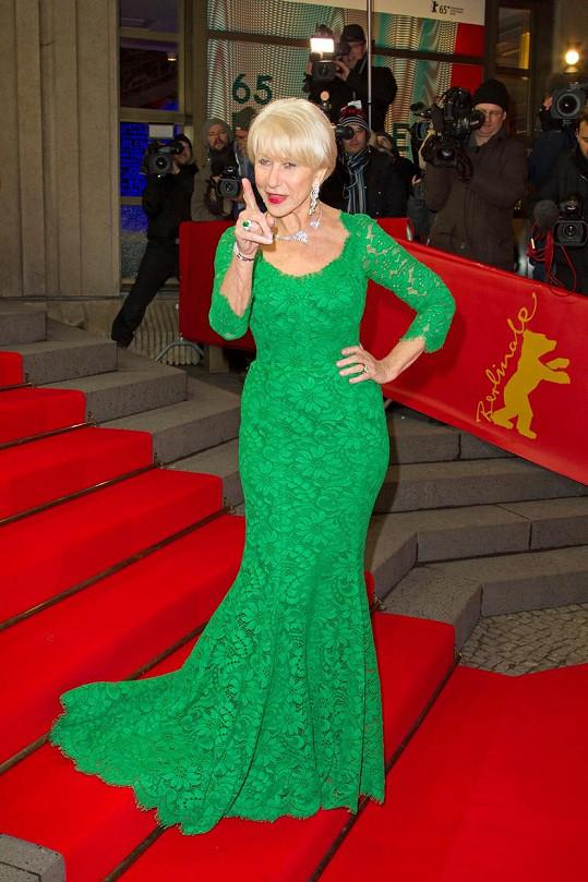 Ne že se to někde objeví, hrozila fotografům na Berlinale naoko nazlobená herečka.