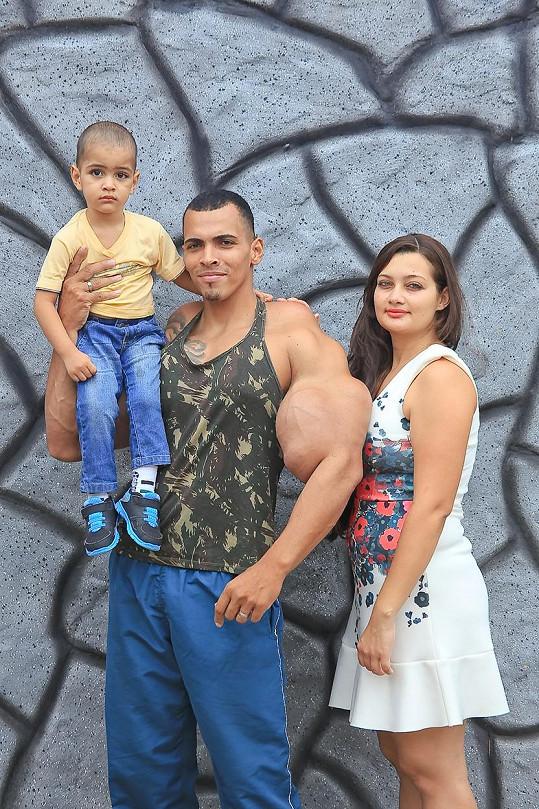 S manželkou a synem