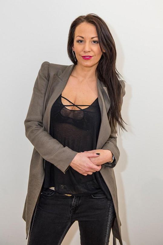 Agáta Prachařová ráda nosí vyzývavé modely.