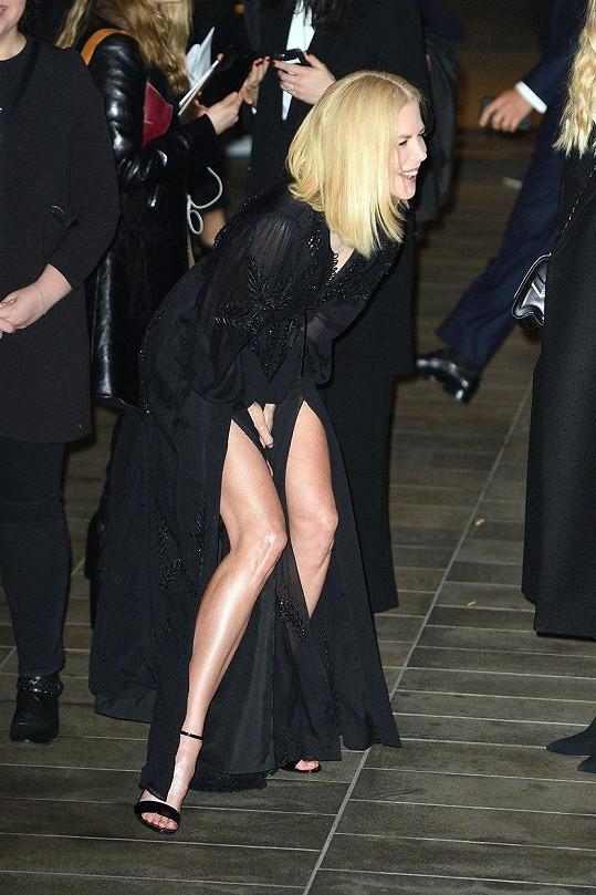 Když se slavná hollywoodská star Nicole Kidman vypravila v listopadu na slavnostní večer pořádaný značkou Louis Vuitton, nadělalaly jí rovnou dva rozparky tolik starostí, že už se tomu jenom smála.