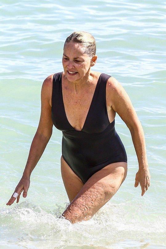 Hvězda hollywoodského trháku Základní instikt, herečka Sharon Stone (59) si tyhle obrázky za rámeček také nedá...