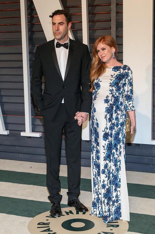 Sacha Baron Cohen a Isla Fisher po udílení Oscarů