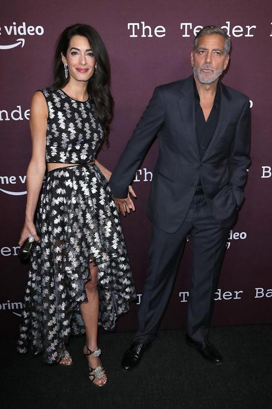 Clooney snímek režíroval a focení na červeném koberci si ještě víc užil se svým filmovým parťákem.