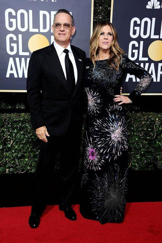 V neděli Tom a Rita přišli na udílení Zlatých glóbů v Los Angeles.