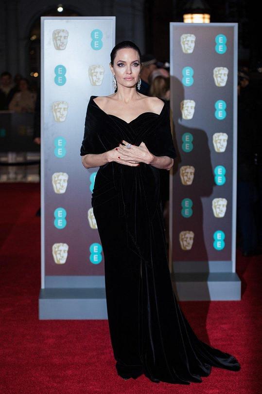 Angelina Jolie na nedávném udílení cen BAFTA