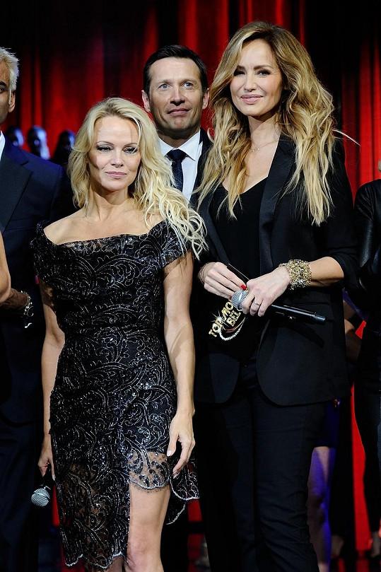 S Pamelou Anderson na finále soutěže Top Model Belgium 2017