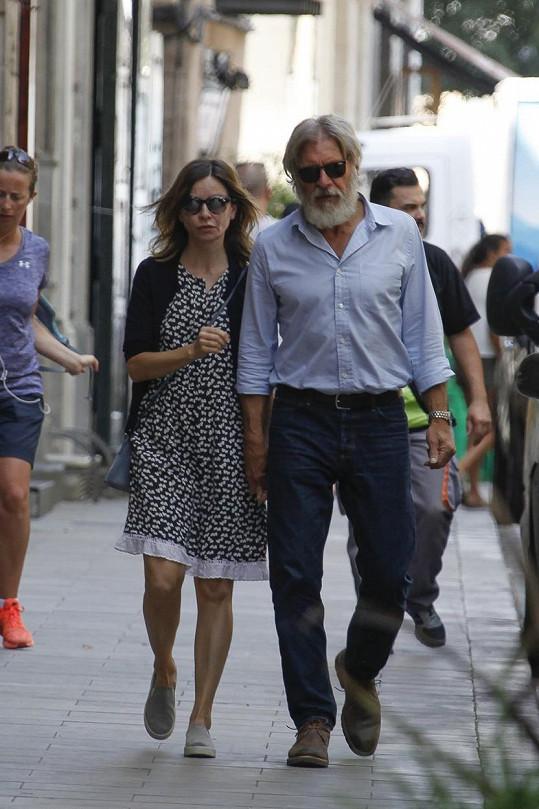 Calista s manželem Harrisonem Fordem