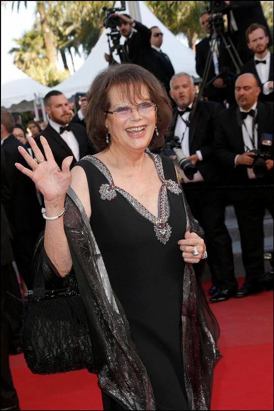 Claudia Cardinale je v Cannes vždy vítaným hostem.