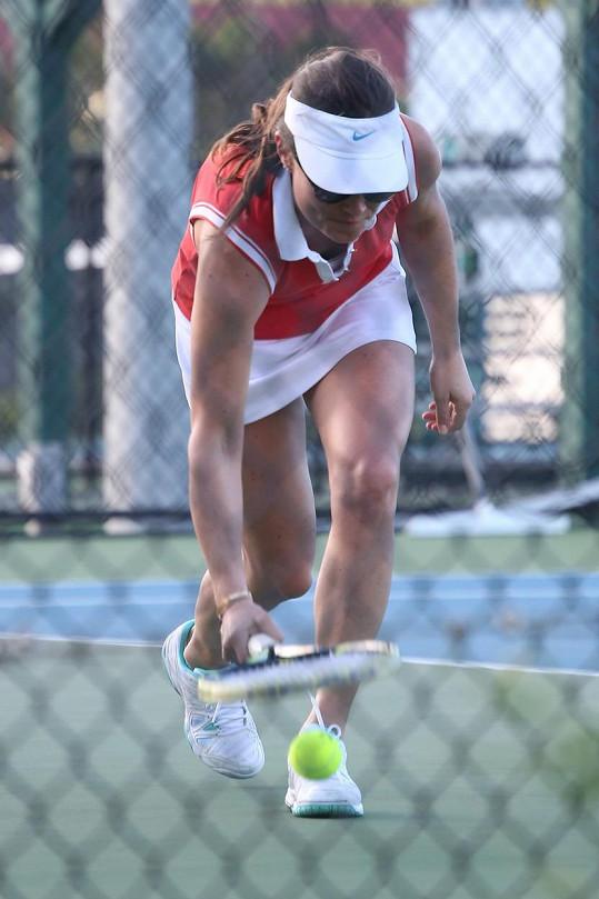 Pippa Middleton si tyká snad s každým sportem... Tenis není výjimkou.