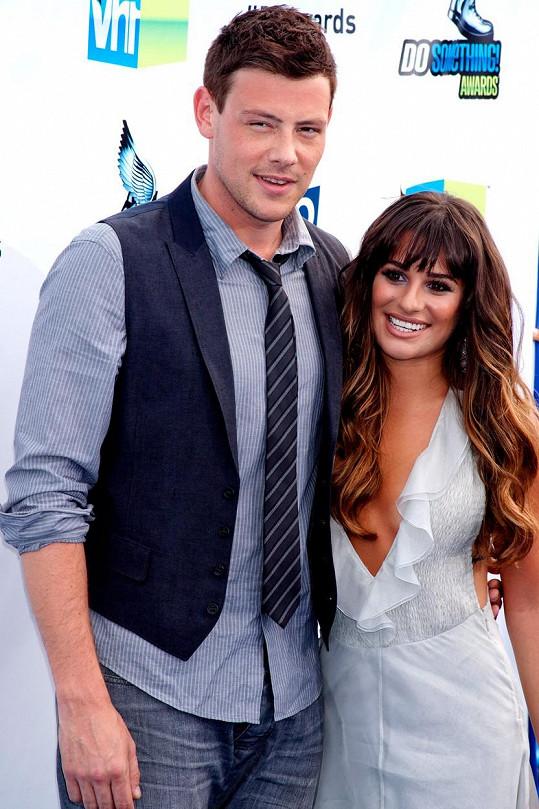 Lea Michele s Corym Monteithem, jehož život skončil za tragických okolností.