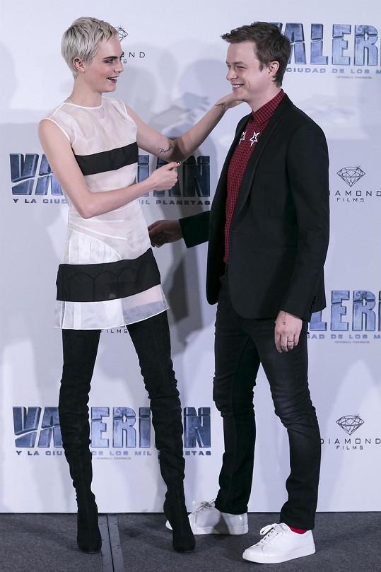 S hereckým partnerem Danem DeHaanem ztvárnili hlavní role ve filmu Valerian a město tisíce planet.