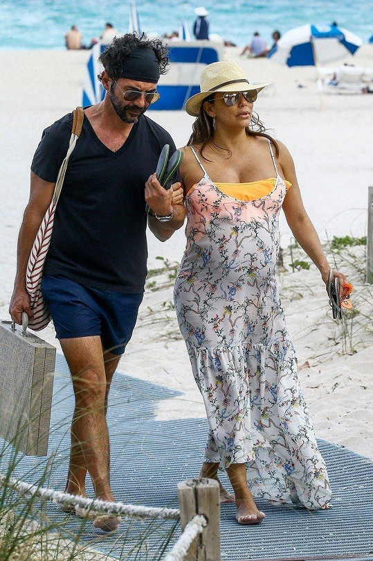 S manželem Josém Bastónem v Miami