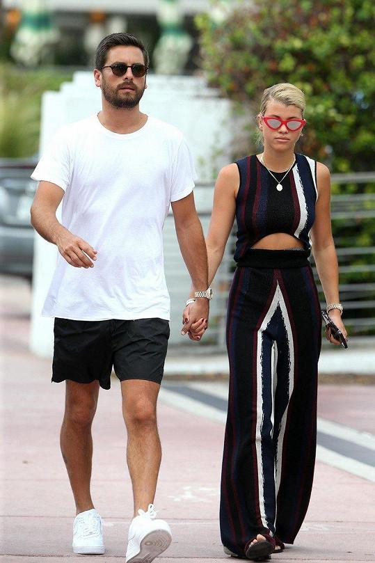 Sofia, která dříve chodila třeba s Justinem Bieberem, se svým aktuálním partnerem, 34letým Scottem Disickem.